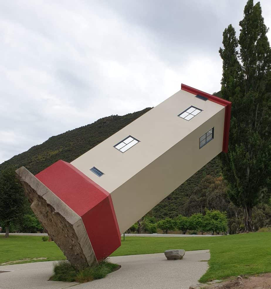 Leaning Tower at the entry to Puzzling World Wanaka