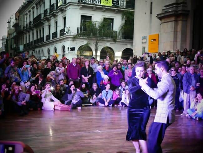 Dancers in the square at Montevideo Tango, courtesy of Green Mochila