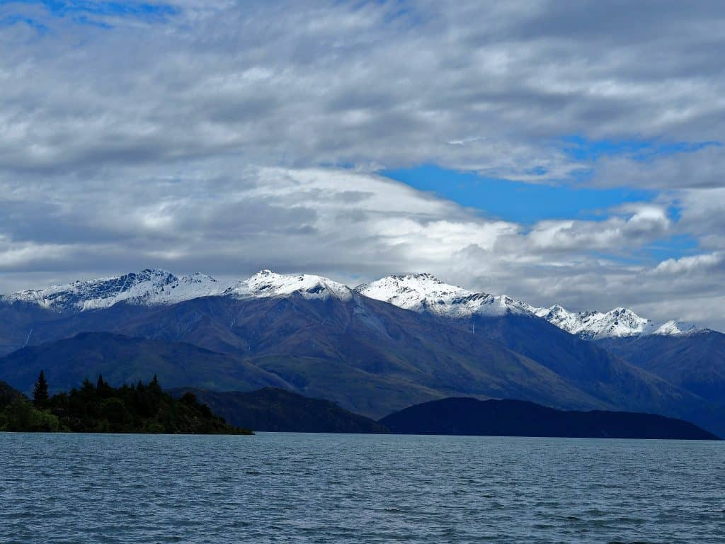 Southern Alps from Lake Wanaka