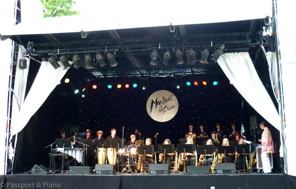 Performers on Stage at the Montreuz Jazz Festival, Courtesy of Passport and Piano