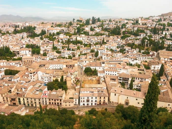 Granada, Spain from above. Courtesy of My Path in the World
