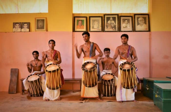 Traditional drumming in Kerala, India. Courtesy of A World to Travel