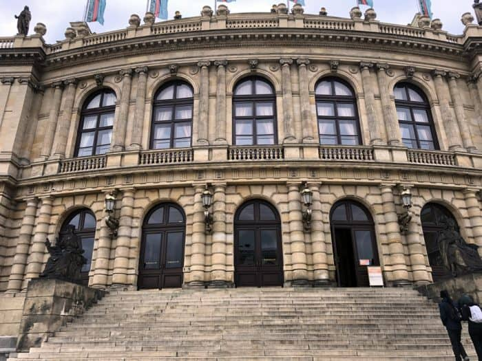 Rudolfinum in Prague. Courtesy of Travel Geekery