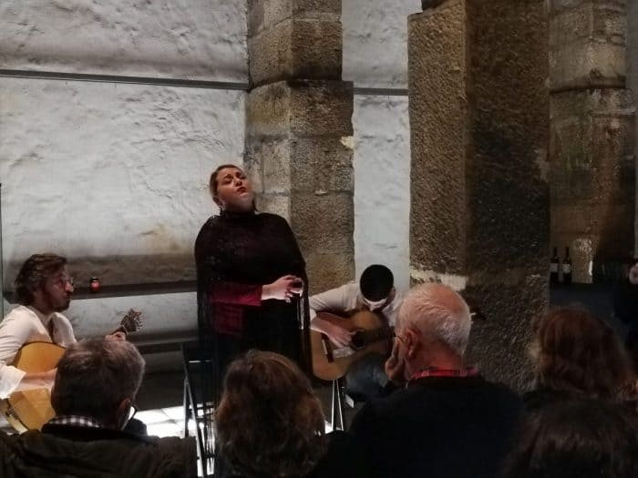 Fado concert in Portugal. Courtesy of The Nomadic Vegan