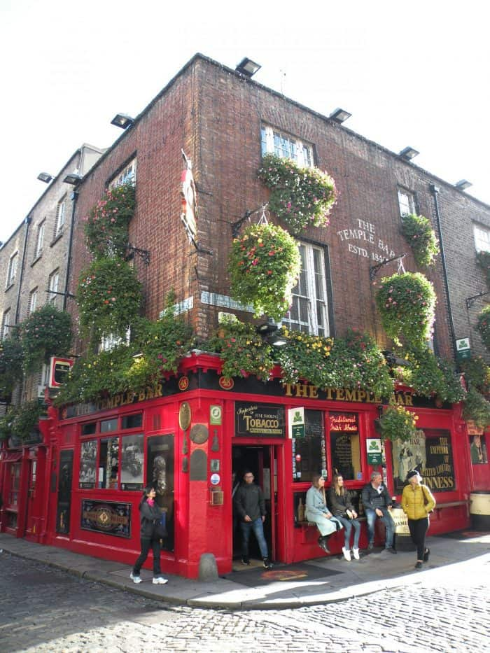 The Temple Bar, heart of live music in Dublin. Courtesy of Both Feet on the Road
