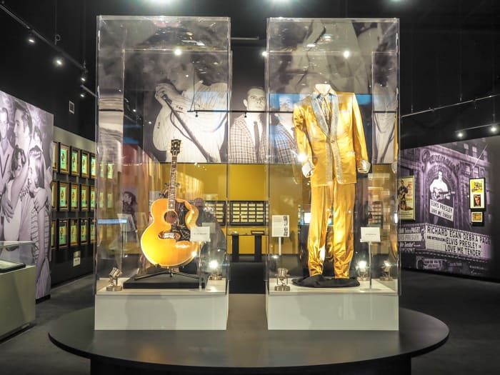Elvis suits on display at Graceland, Memphis