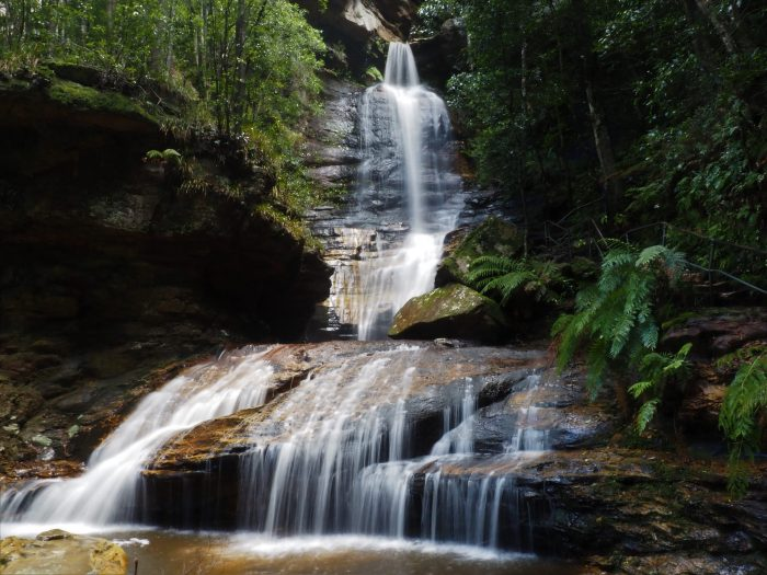 Empress Falls on the track down to the Valley of the Waters, Wentworth Falls Blue Mountains