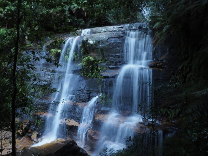 Flat Rock Falls on Valley of the Waters track, Wentworth Falls Blue Mountains