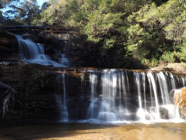 small falls above where Jamison Creek flows over info Wentworth Falls
