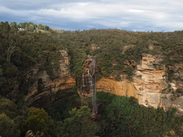 View of Wentworth Falls from Princes Rock Lookout, Wentworth Falls