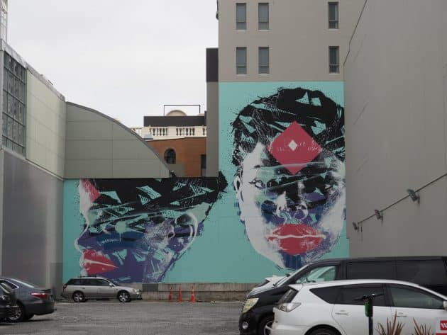 Mural called Kristen by Australian Street Artist Askew One
