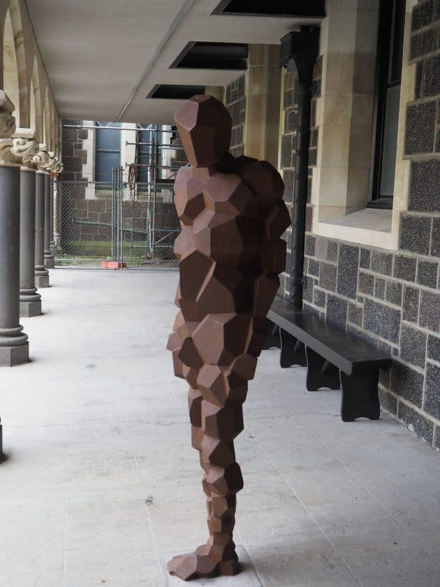 Stay (part 2) sculpture by Sir Antony Gormley at Arts Centre Christchurch
