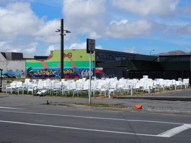 185 Chairs Earthquake Memorial Christchurch