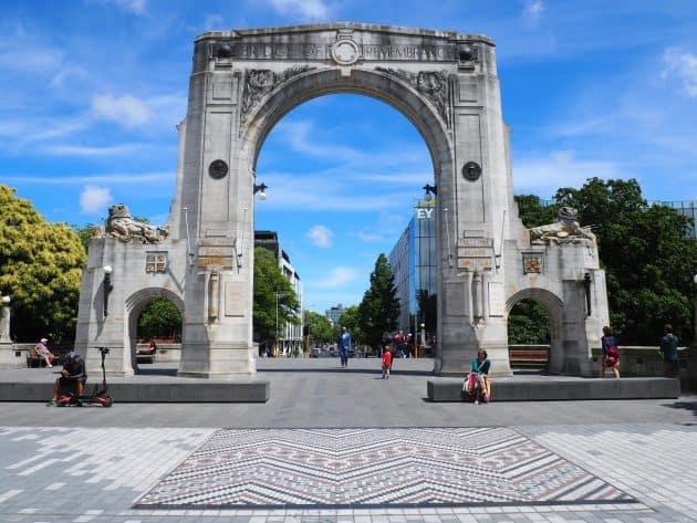 Bridge of Remembrance in Christchurch