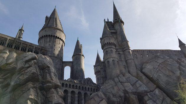 Hogwarts replica at Harry Potters Wizarding World at Universal Studios, LA