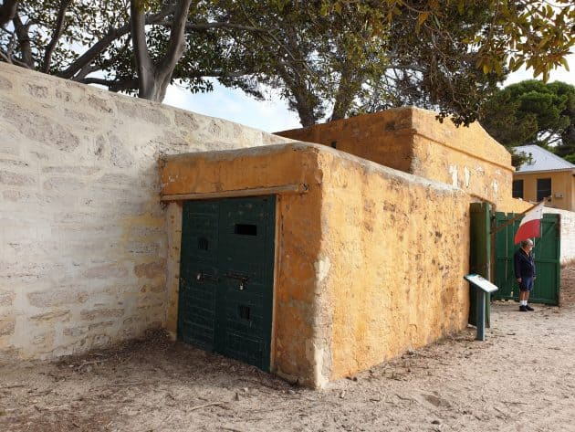 A cell attached to the boathouse was where prisoners awaited transport on Rottnest Island, Western Australila