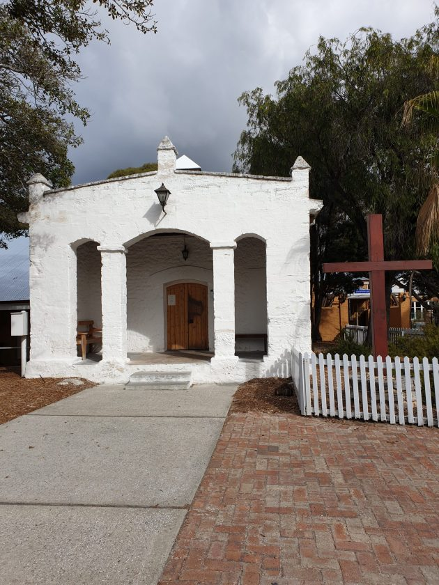 The chapel on Rottnest Island which was built by Aboriginal prisoners in 1860, and later served as a school