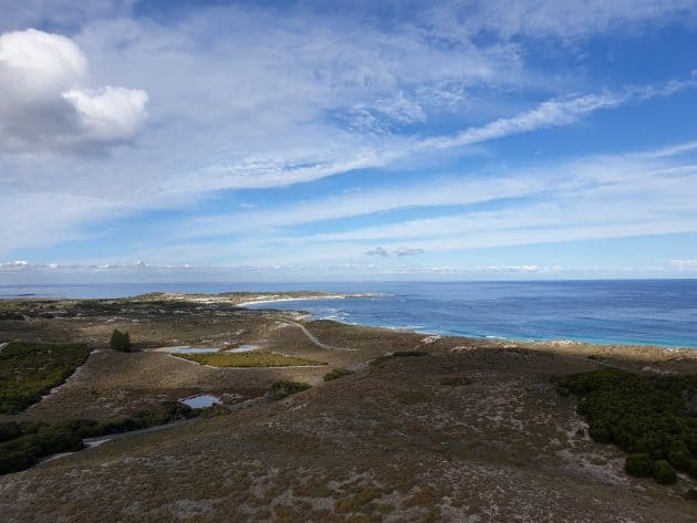 View out to see from the top of the Rottnest Island Lighthouse