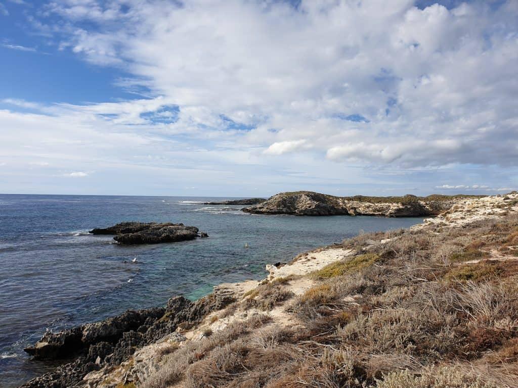 Coastline of Rottnest Island off the coast of Western Australia
