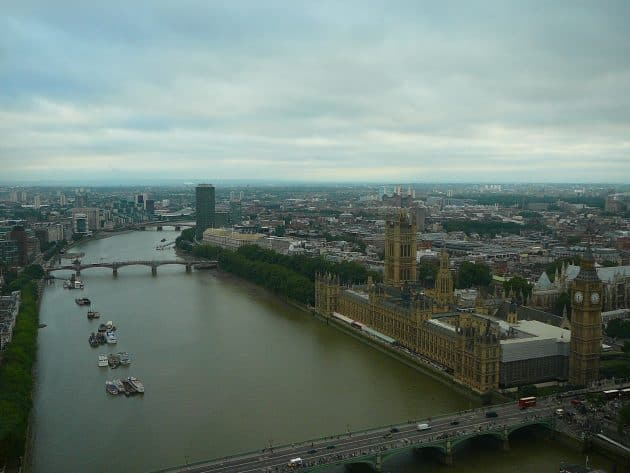 The River Thames as seen from the London Eye