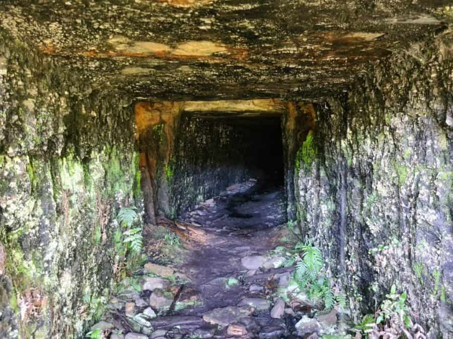 The entrance to the Mackenzie coal mine as seen from outside