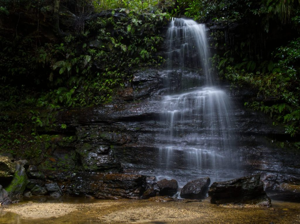 Image of Federal Falls on the Lawson Waterfall circuit taken from the front right