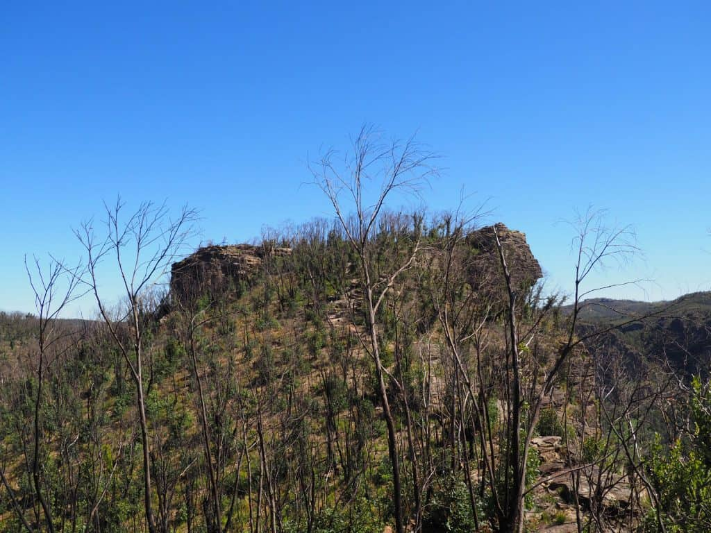 Thor Head, a rocky outcrop providing unobstructed views of the Grose Valley and Asgard Swamp