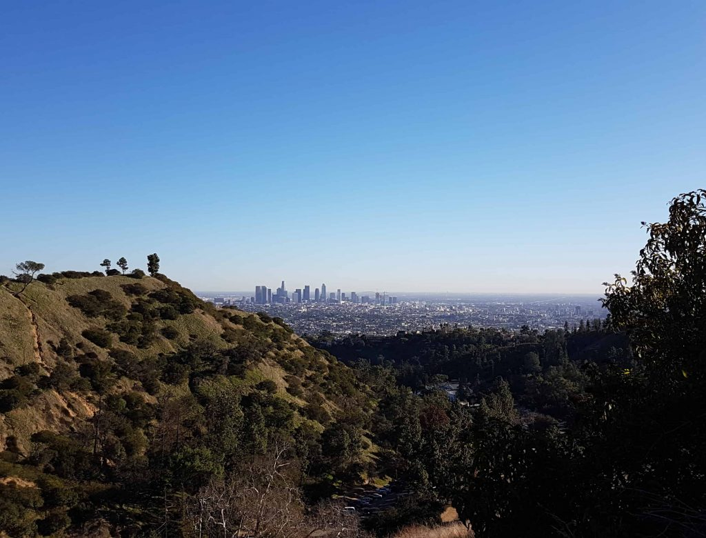 The city of Los Angeles from the wilderness of Griffith Park
